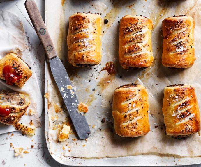 "**[How to make sausage rolls](https://www.gourmettraveller.com.au/recipes/explainers/how-to-make-sausage-rolls-18902|target=""_blank"")**"