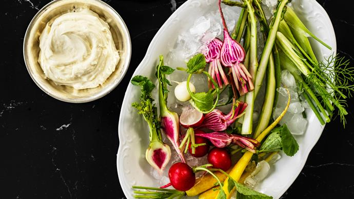 Andrew McConnell's spring crudités with house-made curd
