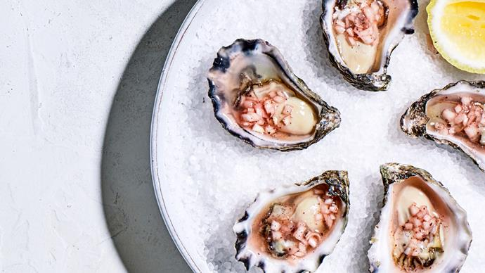 Leigh Street Wine Room's oysters with pepperberry mignonette
