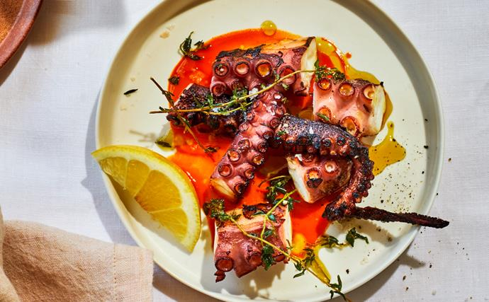 Una Más' grilled octopus with fermented chilli