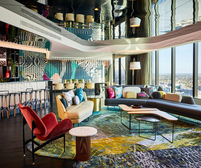 W Brisbane's Extreme Wow Suite overlooks the city.