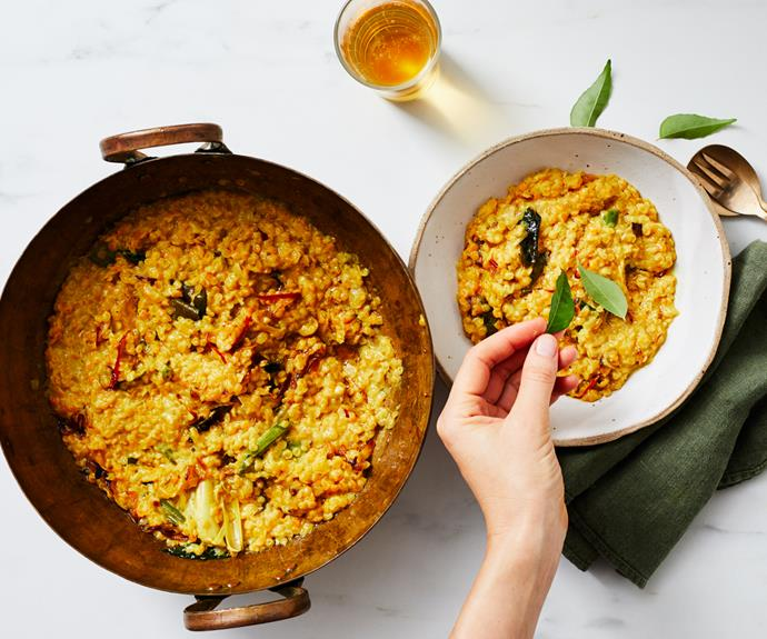 """**[How to make the perfect tempered dhal](https://www.gourmettraveller.com.au/recipes/explainers/tempered-dhal-17442 target=""""_blank"""")**"""