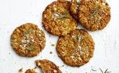 Anzac biscuits with salted rosemary