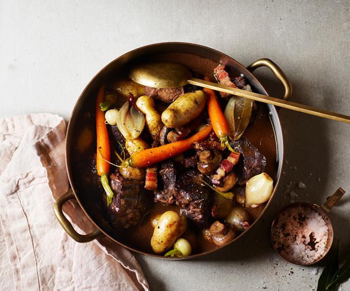 "**[Du Fermier's daube of beef with root vegetables](https://www.gourmettraveller.com.au/recipes/chefs-recipes/daube-19105 target=""_blank"")**"