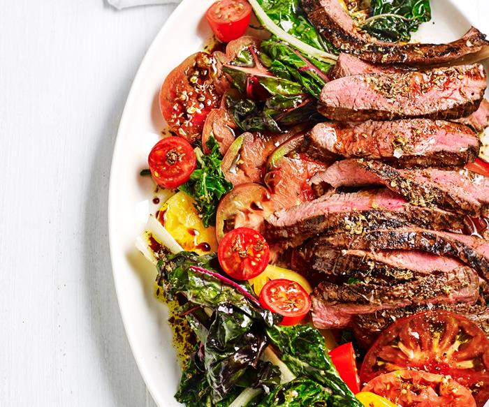 Grilled hanger steak with spiced vincotto