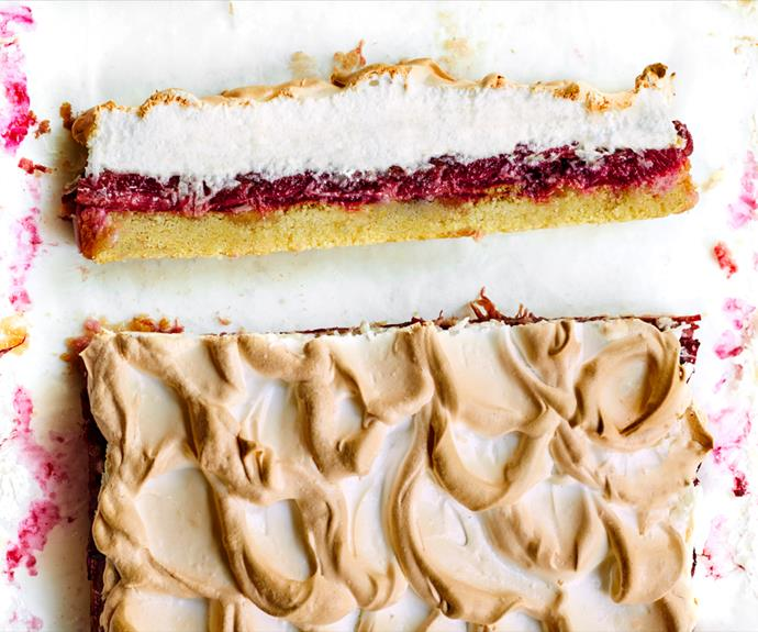 "**[Rhubarb Louise cake](https://www.gourmettraveller.com.au/recipes/browse-all/rhubarb-cake-19121|target=""_blank"")**"