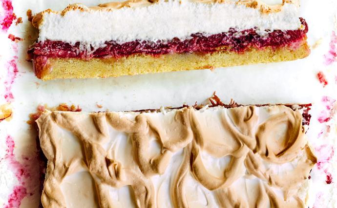 Rhubarb Louise cake