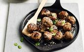 Pork and shiitake meatballs meatballs with sweet soy