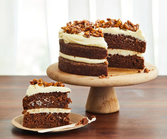 "**[Sixpenny's carrot cake with candied walnuts](https://www.gourmettraveller.com.au/recipes/chefs-recipes/carrot-cake-walnuts-19137|target=""_blank"")**"