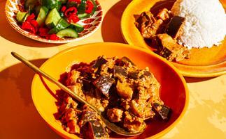 Tony Tan's eggplant, coconut and tamarind sambal