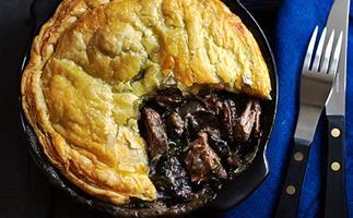Beef brisket and mushroom pot pies