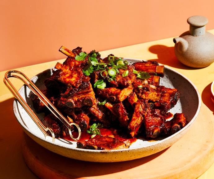 "**[Tony Tan's Nyonya pork spare ribs](https://www.gourmettraveller.com.au/recipes/chefs-recipes/nyona-pork-ribs-19340|target=""_blank"")**"