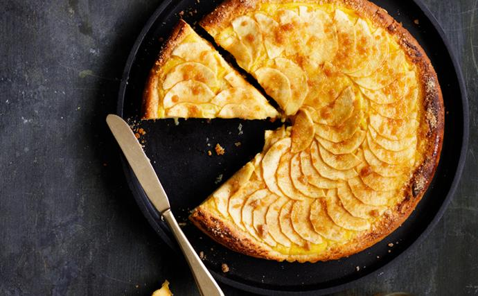 Brioche apple custard tart