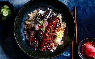 Pork belly donburi