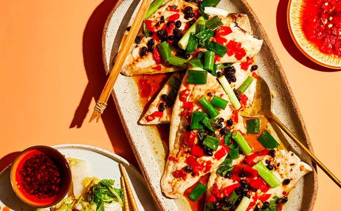 Tony Tan's Hunan steamed fish with salted chillies and fermented black beans