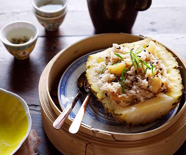 """[**Pineapple rice (bo luo fun)**](https://www.gourmettraveller.com.au/recipes/browse-all/pineapple-rice-bo-luo-fun-11274 target=""""_blank"""")"""