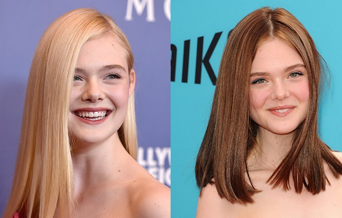 <strong>Elle Fanning</strong> <br>The flaxen-haired beauty has swapped her signature flowing blonde tresses for a long, blunt chestnut bob, debuting her new 'do at the premiere for The Boxtrolls this weekend. We can't tell which one we love more!