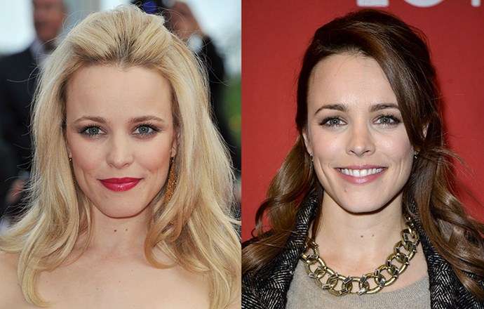 <strong>Rachel McAdams </strong> <br>Is there a hair colour that McAdams <em>hasn't </em>tried? The gorgeous 35-year-old experimented with red last year before switching to a brunette shade - but we'll never forget her as a blonde Regina George.