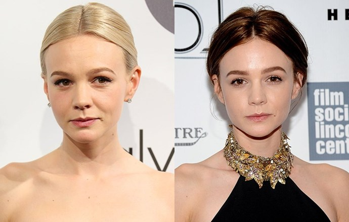 <strong>Carey Mulligan </strong> <br>29-year-old Mulligan has reverted back to her natural brunette to give her hair a much-needed break after years of colouring for roles.