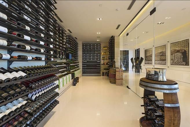 The enormous wine cellar provides the perfect accompaniment for a diner party or event.