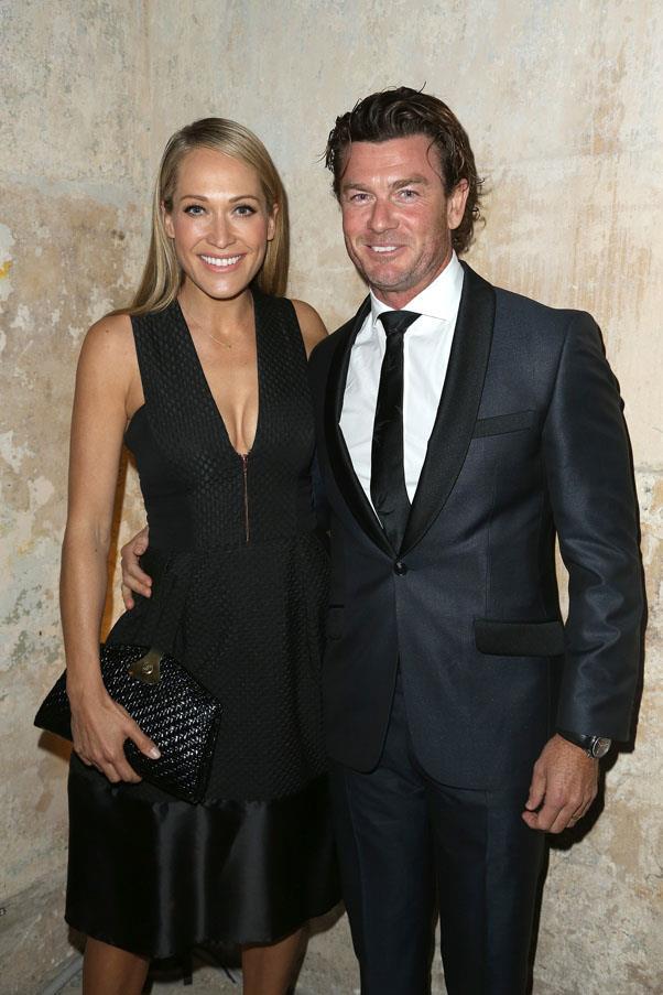Erika Heynatz and husband Andrew Kingston.