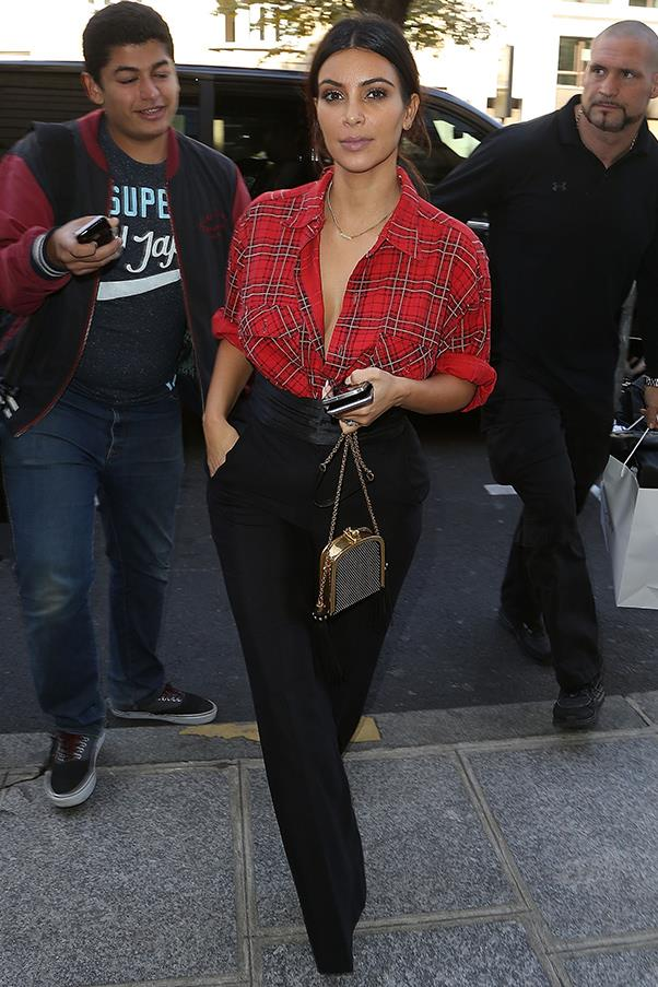 Out during Paris fashion week on September 25.