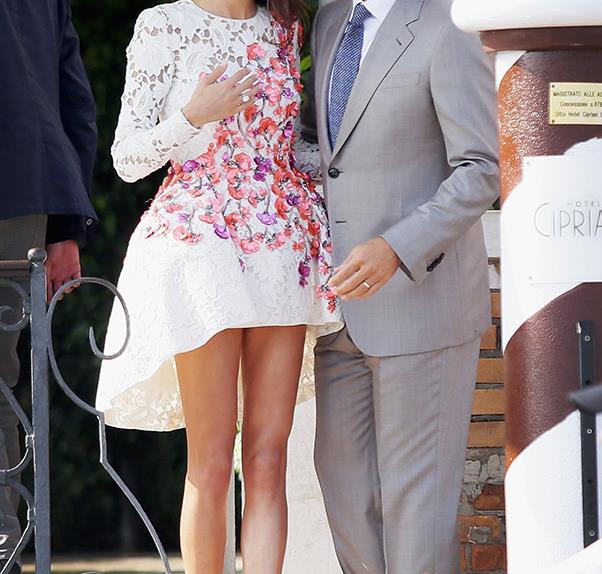 George Clooney and Amal Alamuddin Giambattista Valli Couture.