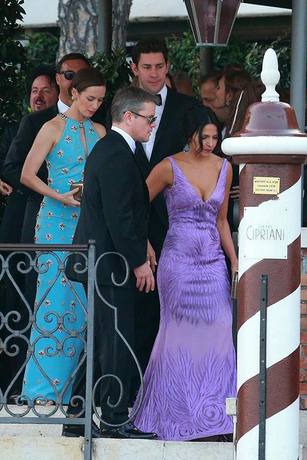 Matt Damon and wife Luciana Barroso were also in attendance.