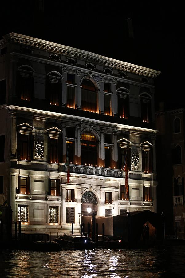 The wedding was held at the seven-star Aman Canal Grande Hotel, pictured here.