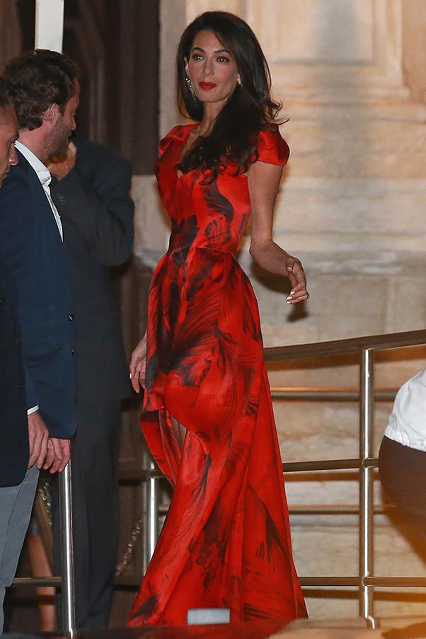 The British fashion house is one of the top contenders rumoured to have created Alamuddin's wedding gown, with Oscar de la Renta also another frontrunner.