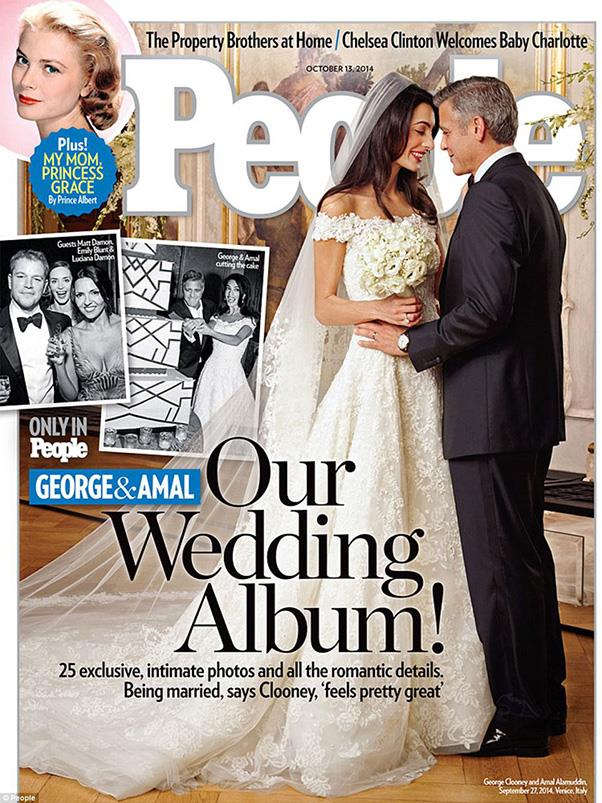 """<a href=""""http://www.people.com/article/george-clooney-amal-alamuddin-wedding-photo"""">PEOPLE Magazine</a> also released exclusive photos from the wedding, in conjunction with Hello. """"George and Amal radiated love all night,"""" Alamuddin's mother, Baria, told the US Magazine. """"The wedding was so unbelievably special, it was legendary. These three days – the friends, the families, the atmosphere, everything – will stay with me all the rest of my life."""" <br><br>As for the Australian release, Women's Day have the exclusive, with the new issue going on sale Thursday October 2."""