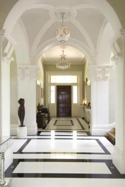 The grand entrace hallway.
