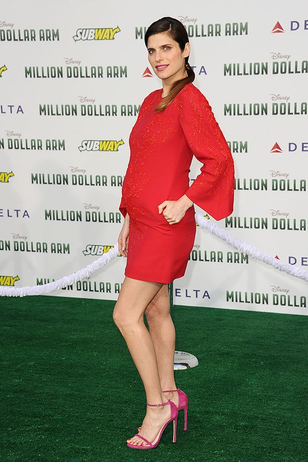<strong>Lake Bell</strong> <br>We knew Lake Bell would look incredible during her pregnancy after she first debuted her baby bump in a burgundy Stella McCartney dress that hugged in all the right places. With a due date in the next few months, we're going to miss seeing her chic baby bump style.