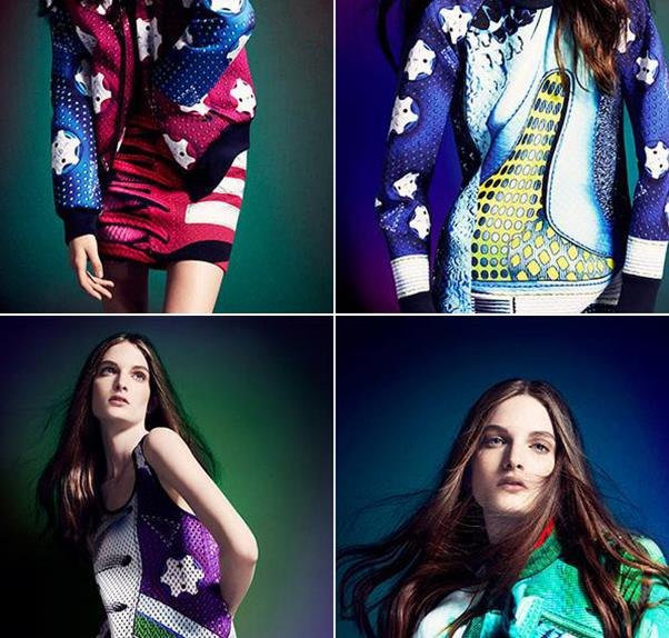 Designs from Mary Katrantzou's collection for Adidas