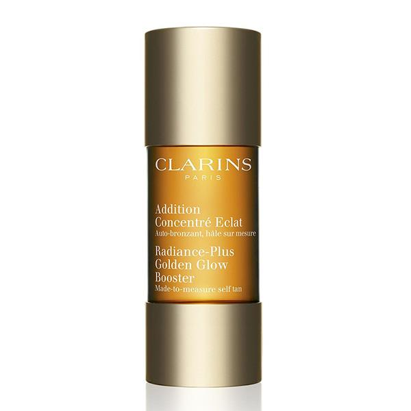 "<strong>Clarins Radiance-Plus Golden Glow Booster for Face</strong> <br>Add a couple drops of this to your moisturiser every day and you'll have streak free, natural looking tan after only a few days. Either use as a booster, or every day to keep building your tan. <br><em> Clarins Radiance-Plus Golden Glow Booster for Face, $28.80<em> <a href=""http://shop.davidjones.com.au/djs/en/davidjones/w14-radiance-plus-golden-glow-booster"">DavidJones.com</a>"