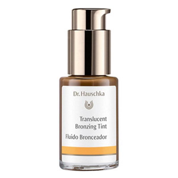 """<strong>Dr Hauschka Translucent Bronzing Tint</strong> <br>Ideal for summer, and a great alternative to powder bronzer which can dull the skin tone. You'll want to apply this to where the sun normally hits your face, which is: upper forehead, cheeks and brim of the nose. As it's liquid, it mixes easily with your foundation or moisturised skin to create a flawless base. <br><em> Dr Hauschka Translucent Bronzing Tint, $54</em> <a href=""""http://www.drhauschka.com.au/DrHauschka-Natural-Organic-Skincare/DrHauschka-Translucent-Bronzing-Tint-30ml"""">DrHauschka.com</a>"""