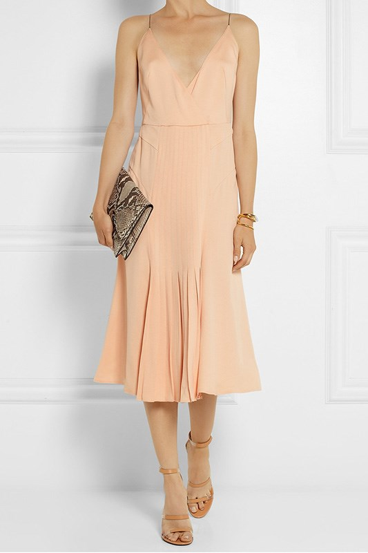 "Calvin Klein Collection pleated silk dress, $2935 <a href=""http://rstyle.me/~2W05h"">Net-A-Porter.com</a>"