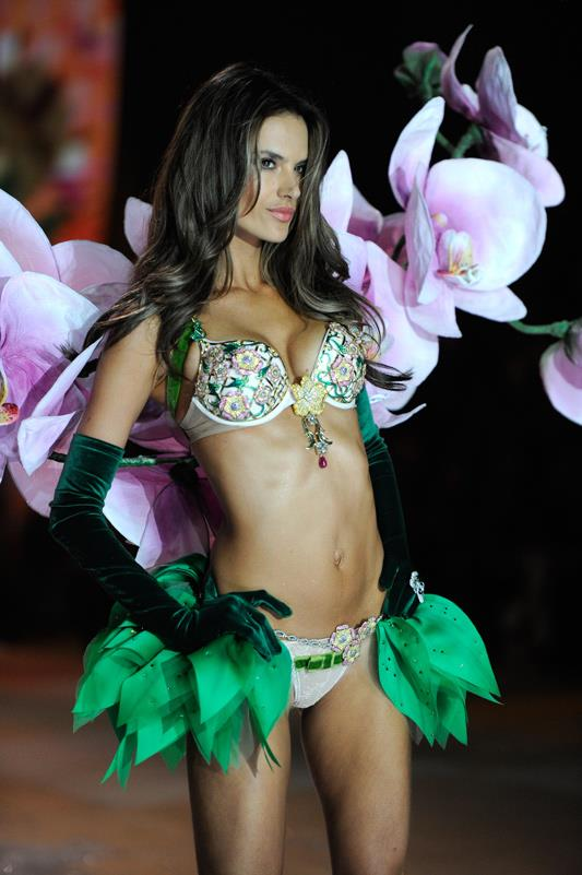 <strong>2012: Floral Fantasy Bra</strong> <br>Angel: Alessandra Ambrosio <br>Value: $2,500,000 <br><br>5,200 amethysts, sapphires, rubies and white, pink and yellow diamonds went into this intricate, floral masterpiece. 2012 also marked the first time Ambrosio was selected to wear the fantasy bra after 11 years as an Angel.