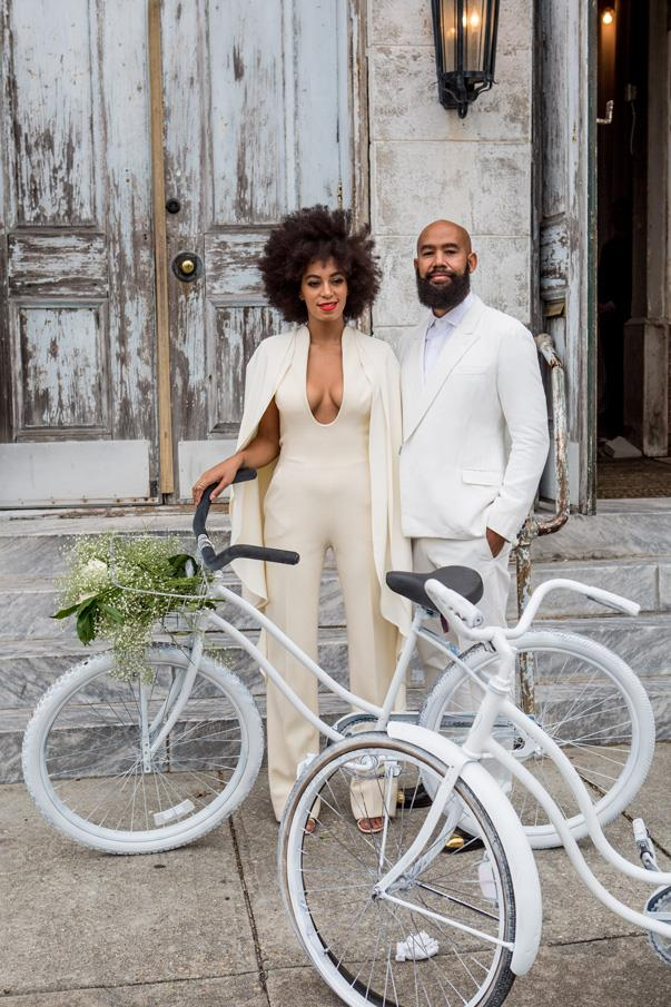 Solange Knowles, 28, married long-time partner, 51-year-old, music-video director Alan Ferguson in a beautiful, all-white, wedding in New Orleans.