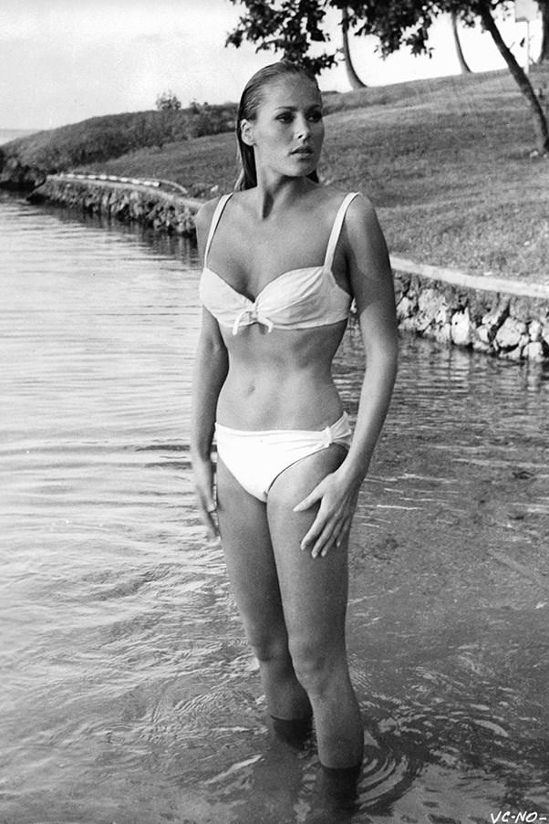 <strong>Ursula Andress</strong> <br>As Honey Ryder in <em>Dr.No</em>, 1963