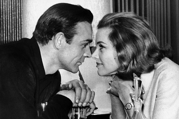 <strong>Honor Blackman</strong> <br>As Pussy Galore in <em>Goldfinger</em>, 1964