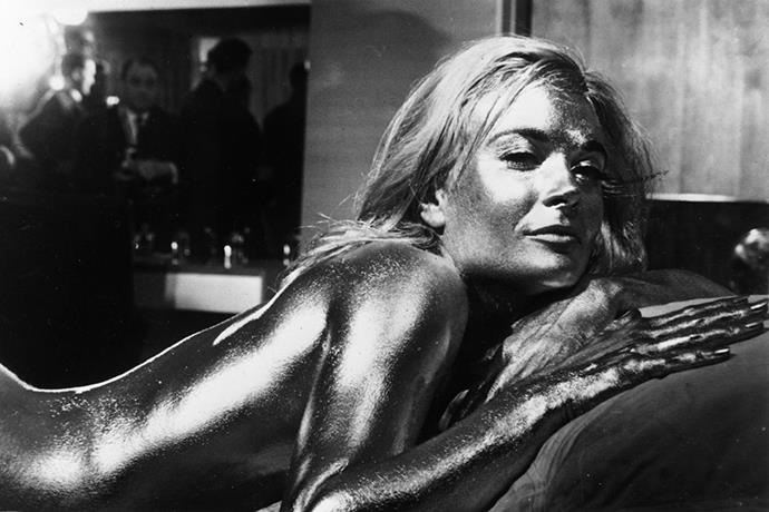 <strong>Shirley Eaton</strong> <br>As Jill Masterson in <em>Goldfinger</em>, 1964