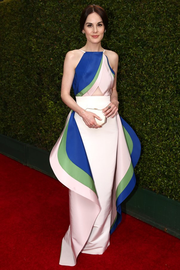<strong>Michelle Dockery in Rosie Assoulin </strong> <br><br>We have to give major props to the <em>Downton Abbey</em> actress for taking a risk on an up-and-coming designer at a major awards show. Rosie Assoulin has been the talk of New York Fashion Week for several seasons with her beautifully crafted clothes, and now she's the talk of the Hollywood set thanks to Dockery and this sculptural number.