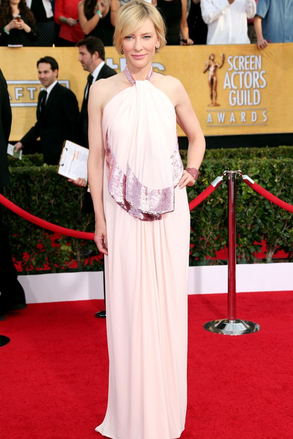 <strong>Cate Blanchett in Givenchy</strong> <br><br>We always admire Blanchett for her avant garde red carpet choices. Even choosing a gown in a pastel hue mostly reserved for babies, the 45-year-old actress looked completely sophisticated. Pink surely isn't just for little girls.