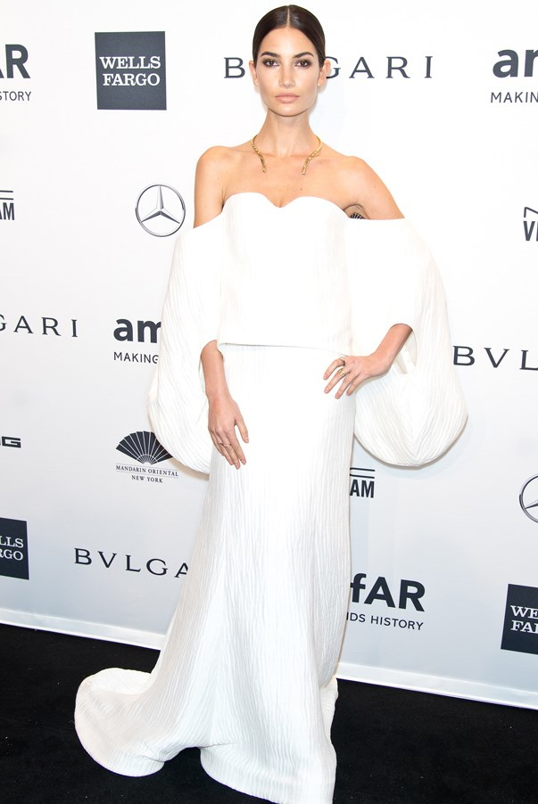 <strong>Lily Aldridge in Rosie Assoulin</strong> <br><br>With a dress this voluminous, only model-like proportions could truly do it justice – and justice was served with the statuesque Lily Aldridge, who wore this creation to the annual amfAR Inspiration Gala.