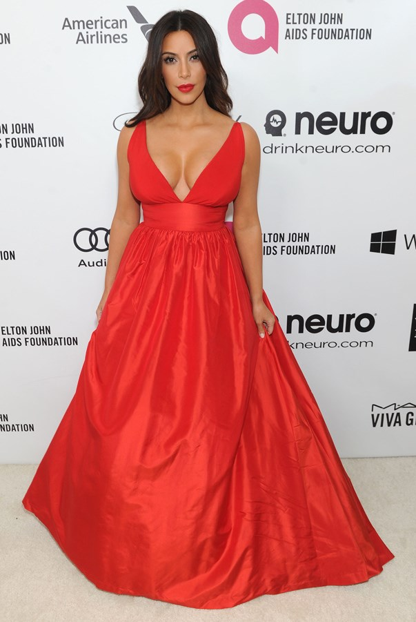 <strong>Kim Kardashian in Celia Kritharioti</strong> <br><br>Even with her décolletage on full display, this stunning red look marked a turn for Kardashian, who took her style to a more elevated and sophisticated level in 2014.