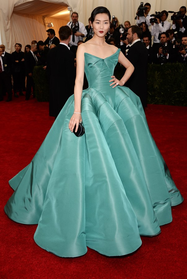 <strong>Liu Wen in Zac Posen</strong> <br><br>This year's Met Gala honouring designer Charles James called for serious glamour – model Liu Wen hit the perfect note in this Zac Posen ball gown.