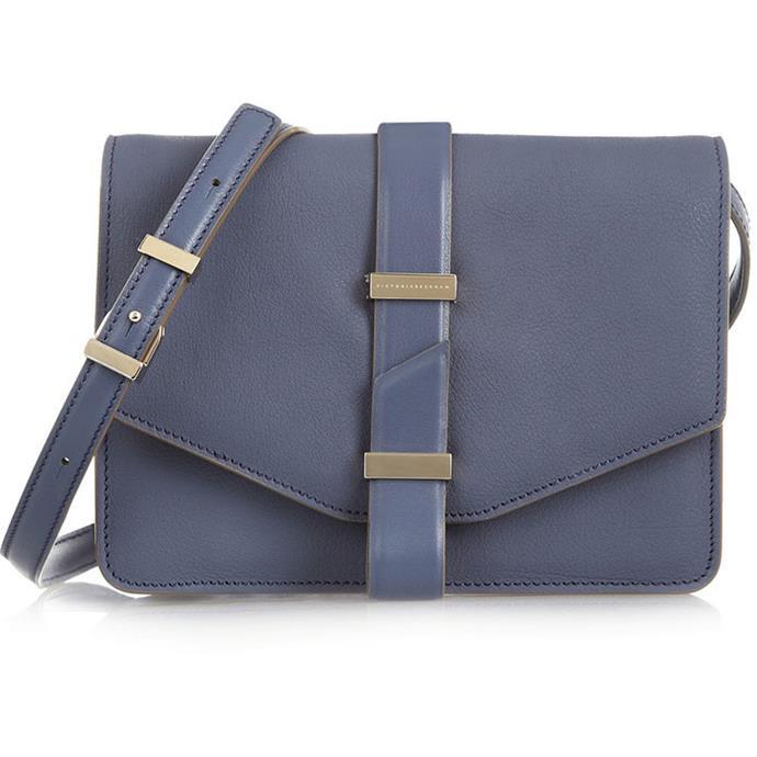 "<a href=""http://www.net-a-porter.com/product/446925/Victoria_Beckham/textured-leather-mini-satchel"">Victoria Beckham mini satchel</a>, $1600"