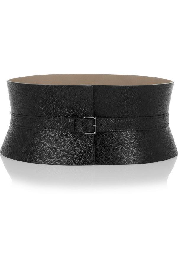 """<a href=""""http://www.net-a-porter.com/product/375961/Alaia/textured-leather-waist-belt"""">Alaïa leather waist belt</a>, $948"""