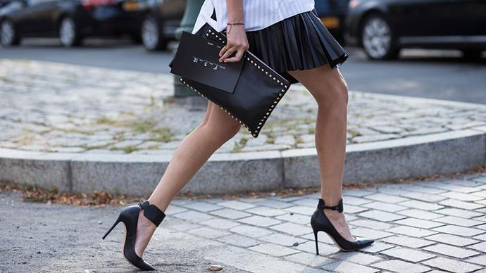 <strong>An ankle-strap heel </strong> <br>Consider this the Classic Black Shoe #2. Still 100% goes-with-everything – but now with an ankle strap that does excellent things to your legs.
